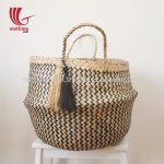 Zigzag Belly Seagrass Basket With Tassels (Copy)