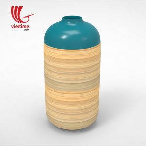 Vietnam Lacquer Decor Bamboo Vases